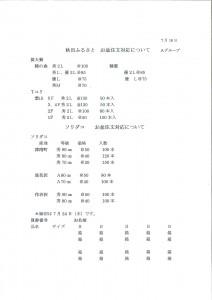 秋田ふるさと注文書